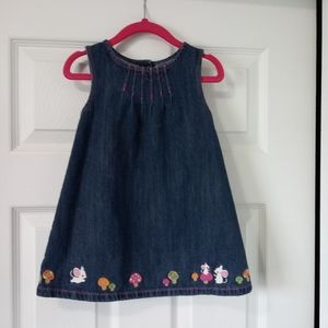 Gymboree Denim Mouse Mushroom Dress - 18-24m